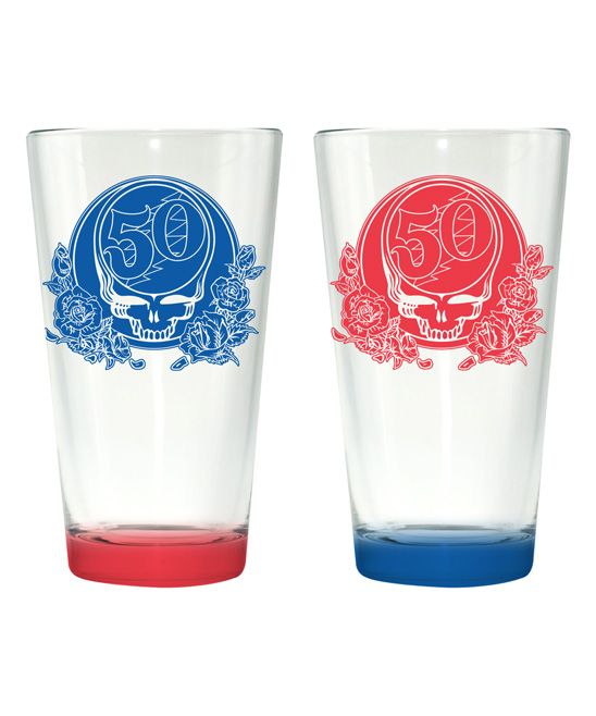 Grateful Dead '50th' Pint Glass - Set of Two