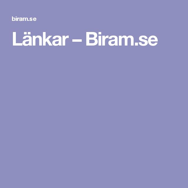 Länkar – Biram.se