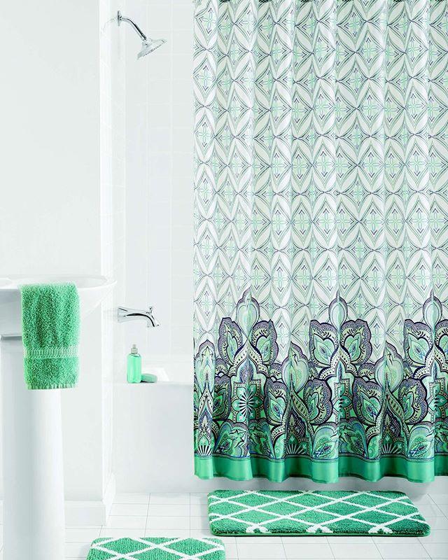 Mainstays Pandora 15 Piece Bathroom Set Shower Curtain And Bath