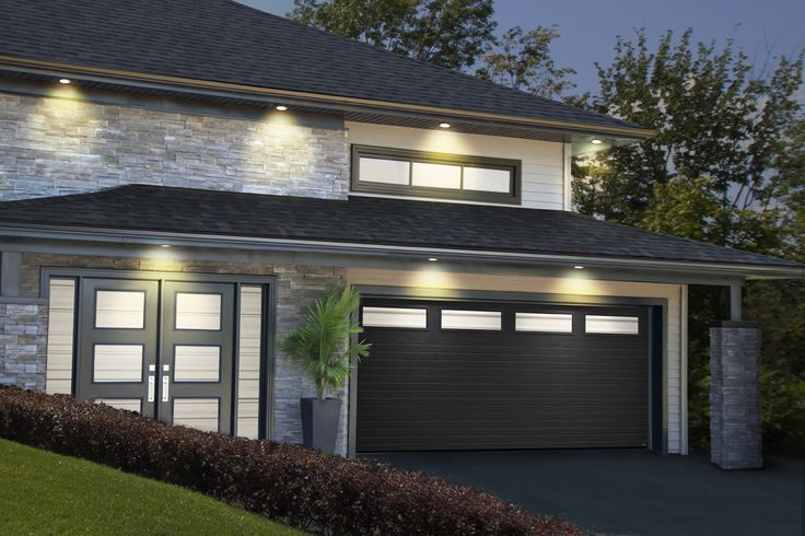 Black Garage Door Ideas For Brick Home And Modern Home