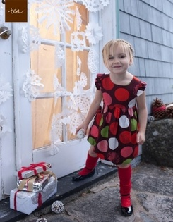 Tea Collection Handmade Holiday Akvarell Party Bubble Dress