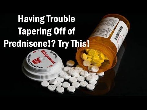 symptoms after tapering off prednisone
