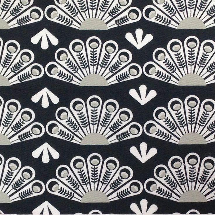 Deco Fan Fabric. Designed by Sue Deighton. £46.00 per metre. www.jessandjules.co.uk