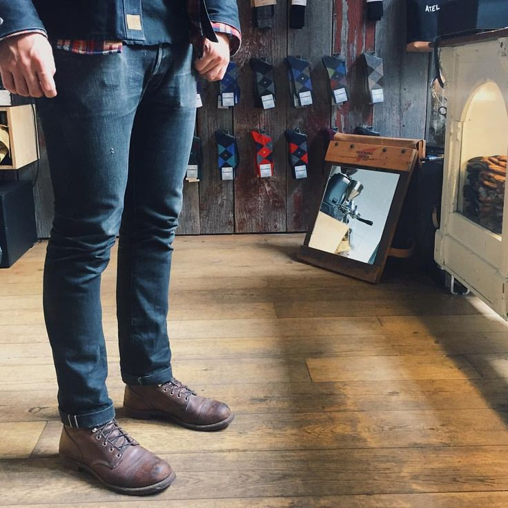 "1,026 Likes, 9 Comments - Red Wing Shoe Store Amsterdam (@redwingamsterdam) on Instagram: ""A pair of amazing Red Wing Shoes 8111 Iron Ranger in Amber Harness underneath a pair a…"""