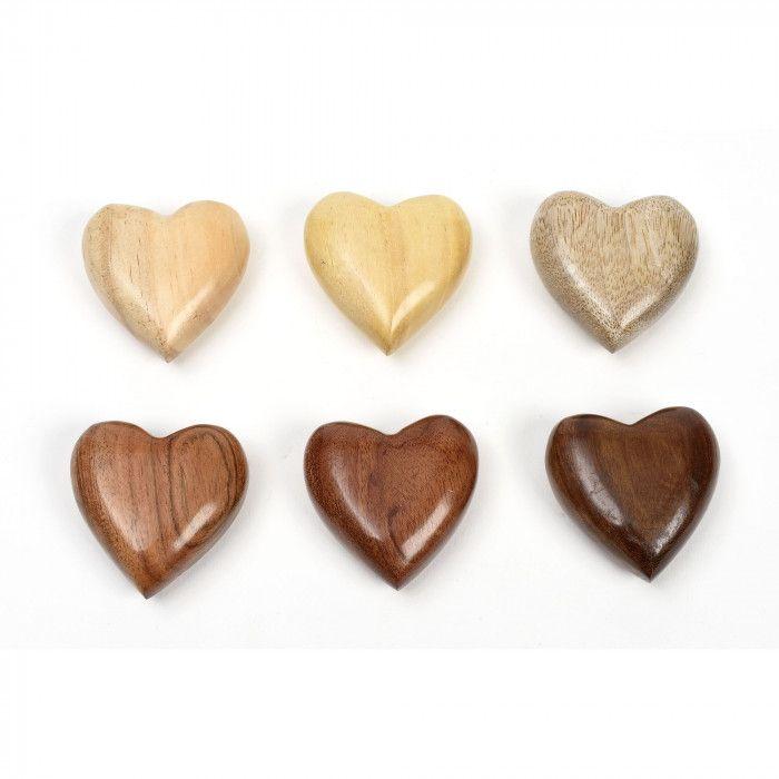 Cuore bombato Wooden Heart in legno  | Altromercato - Commercio Equo e Solidale