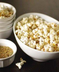 "Homemade Popcorn Seasoning Recipes: Cinnamon & Sugar, Raw Cacao ""Chocolate"", Yummy Coconut, Sweet Glaze, Texas Blend, Brewer's Yeast & Garlic, Italian Blend, Zesty Ranch, & Curry Kick"