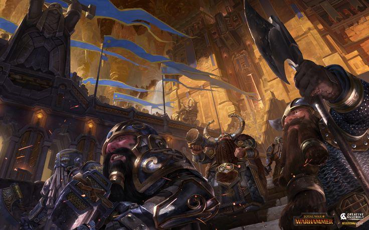 Total War: Warhammer Dwarf Loading Screen, Markus Lenz on ArtStation at https://www.artstation.com/artwork/oZngk