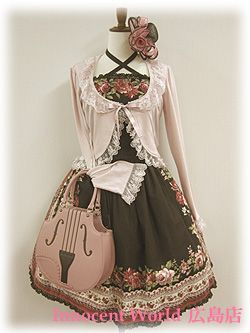 Black Gothic Lolita Dress with Pink Accents and Accessories Japanese Fashion