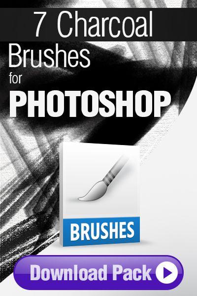 Photoshop Brushes: 7 Charcoal Brushes for Photoshop http://pixelstains.net/7-charcoal-brushes-photoshop/
