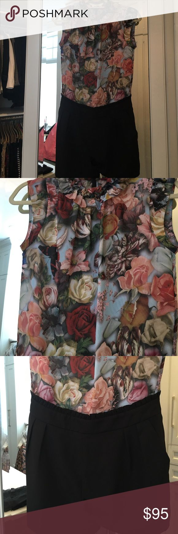 Ted Baker romper Floral romper super cute worn once Ted Baker Shorts