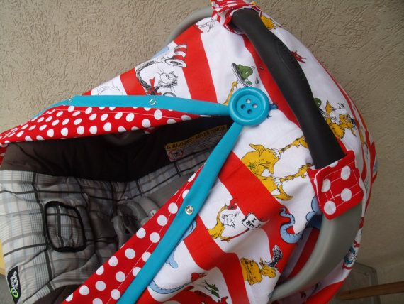 Carseat Canopy Dr Suess FREESHIPPING on Etsy, $41.99