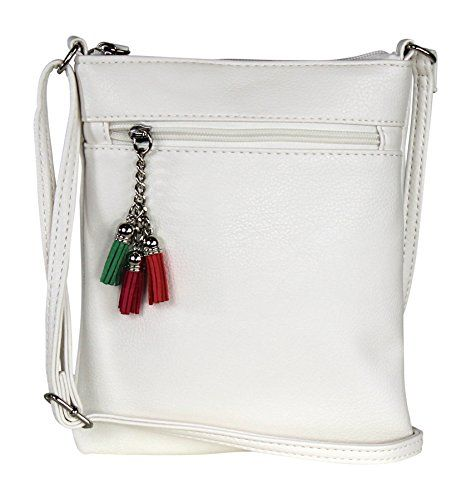 New Trending Cross Body Bags: White Casual Small Faux Leather Crossbody Bag – Travel Festival Purse Handbag. White Casual Small Faux Leather Crossbody Bag – Travel Festival Purse Handbag  Special Offer: $17.99  466 Reviews Pretty and petite, this crossbody bag measures 8″ high by 7″ wide. It's the perfect size for all your essentials like phone, credit cards, keys,...