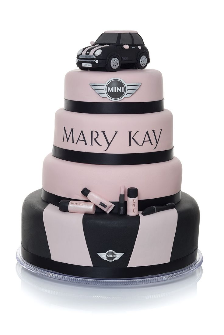 Cute cake! Must be another country because we don't have Coopers and Mary Kay cars in the states. <3