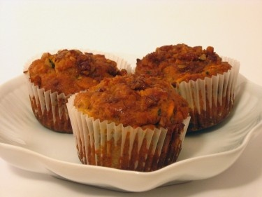 Zucchini Carrot Muffins (or kitchen sink muffins)