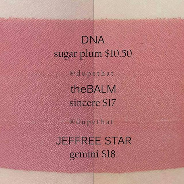 DNA Sugar Plum / TheBalm Sincere / Jeffree Star Gemini