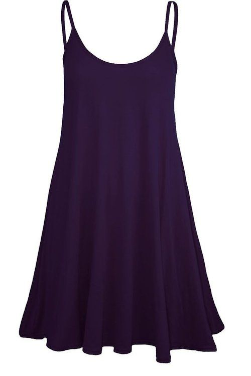 Click here:   Forever Womens Plain Sleeveless Strappy Swing Dress (S/M = 6-8, BabyPink)