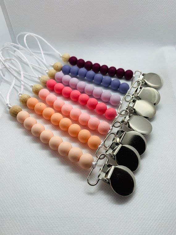 Owls Beautiful Dummy Clip Baby Shooter Chain Holder Pacifier Strap BPA Free
