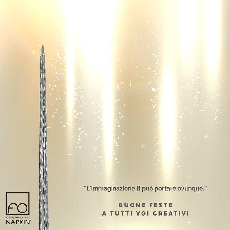 """""""L'immaginazione ti può portare ovunque."""" Buone feste a tutti voi creativi. ✨ ► http://www.napkinforever.com/it/collezioni/prima #NAPKINFOREVER #MadeinItaly"""