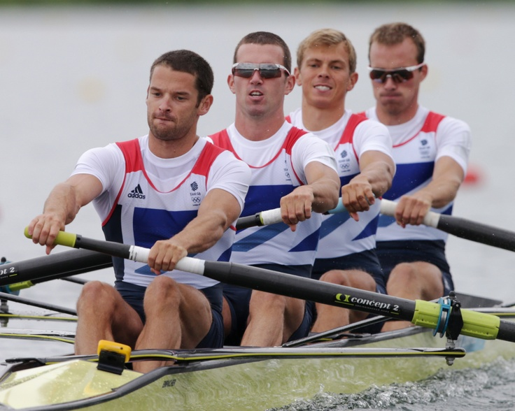 Olympics Day 4: July 31, 2012 - Bartley, Chambers, Williams, Chambers, Great Britain, Lightweight Men's Rowing Four