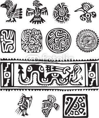 dibujos aztecas - Buscar con Google