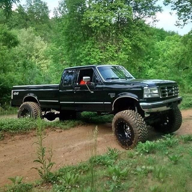 Pin By Ricky Swink On 90 S Ford Trucks Jacked Up Trucks Ford