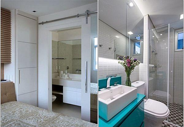 Resultado de imagem para reforma de apartamento quarto de empregada e banheir -> Banheiro Pequeno Para Quarto De Casal