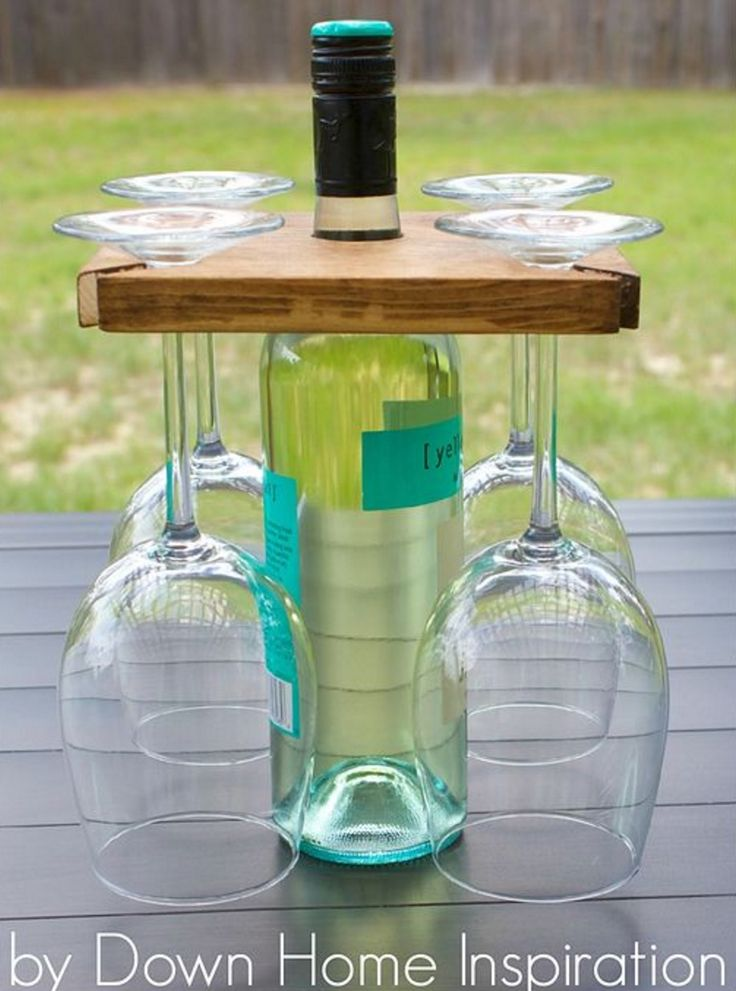 How handy is this Wine Bottle and Glasses Holder! It's perfect for all your entertaining. Check out the Pallet Wine Rack too!