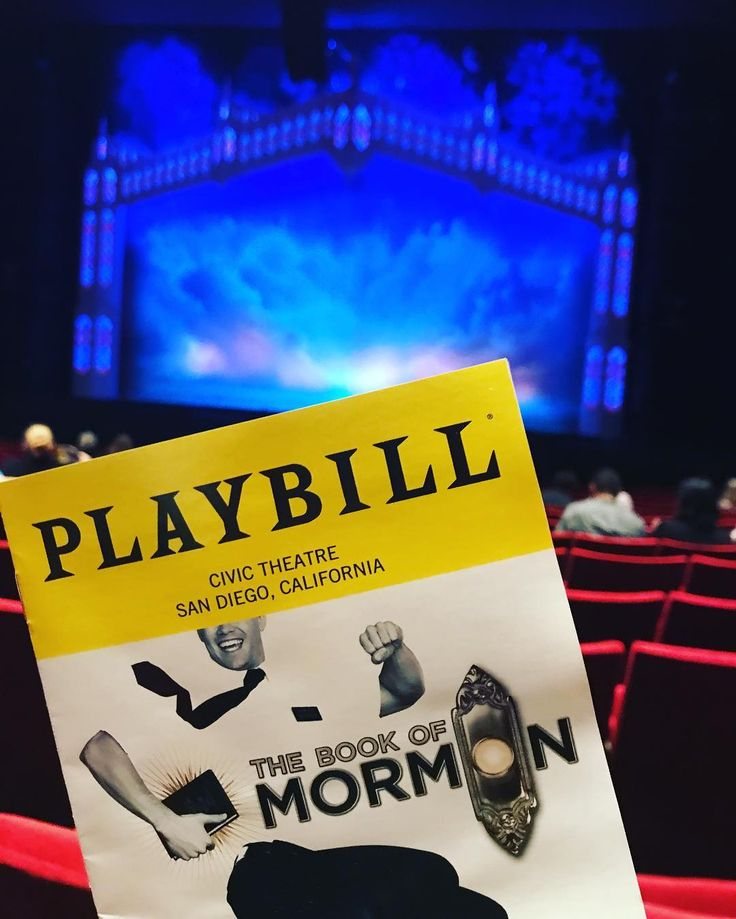 Please note: parental guidance explicit language and other warnings posted at the theater. Lol! @bookofmormon @broadwaysd #civictheater #musicaltheater #sandiegotheater #art #culture #parentalguidance #explicitlanguage #hello #hosted