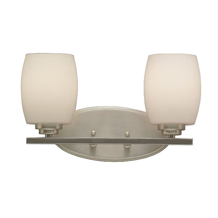 Kichler Lighting 2-Light Eileen Brushed Nickel Modern Vanity Light