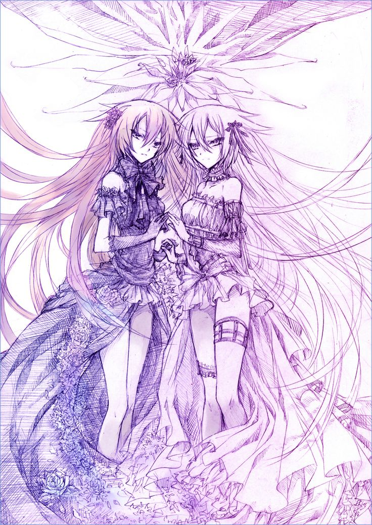 Alice and Alyss / Intention of the Abyss     Pandora Hearts Fan Art