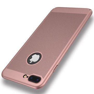 Mesh Dissipating Heat Fingerprint Resistant PC Shockproof Back Case For iPhone 7 Plus 5.5 Inch Sale - Banggood.com