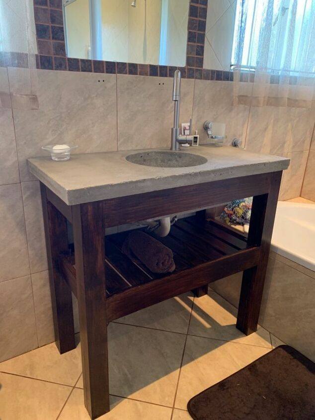 The Easy Way To Makeover Your Bathroom Vanity Concrete Bathroom Vanity Bathroom Furniture