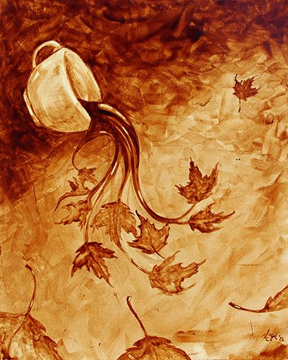 herefortheholidays: 'Coffee in the Fall' - Angel Sarekla-Saur