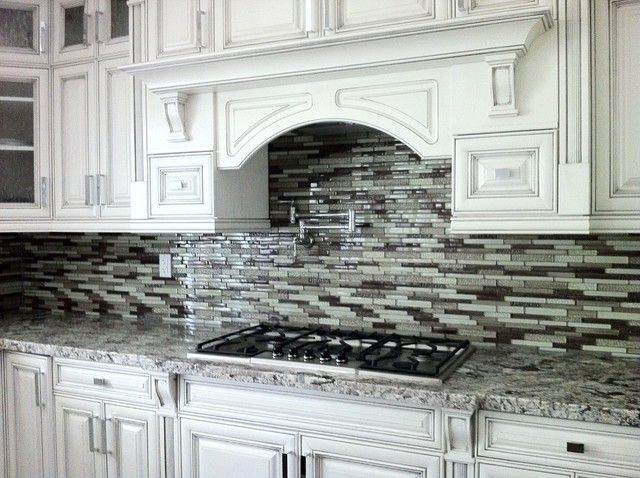 lennon granite with white cabinets
