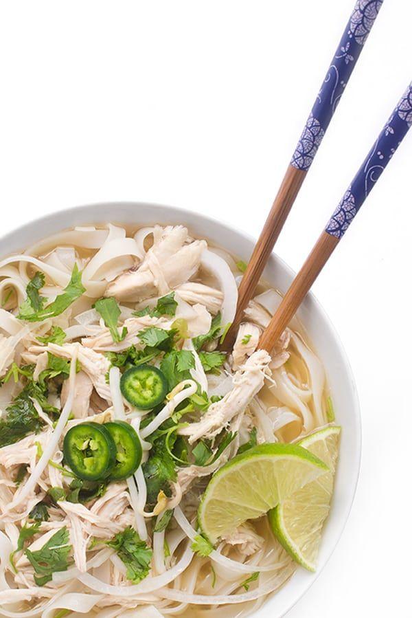 Slow Cooker Chicken Pho - an easy crockpot dinner recipe