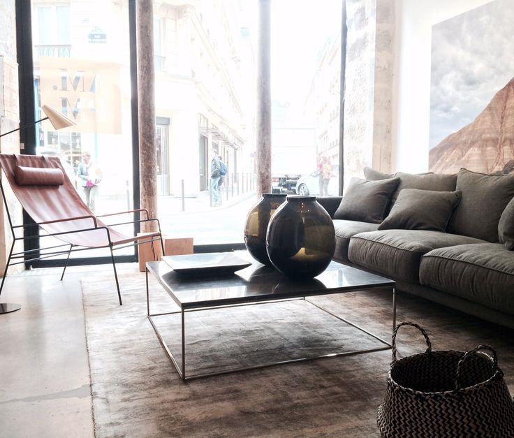 fauteuil cuir canapé table basse ampm