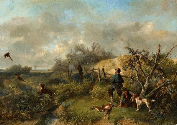 Johan Mari Henri ten Kate - Fazantenjacht in de duinen
