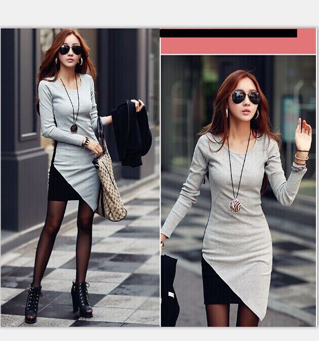 16763GY Dress (Gray) Fabric: fleece sanding L: Shoulder: 38cm Sleeve: 56cm Bust: 82cm Waist: 80cm Hips: 86cm Length: 79-90cm