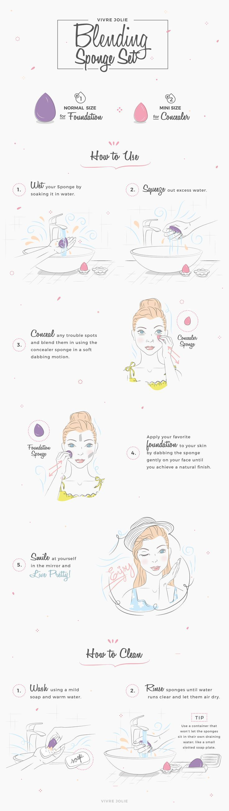 """How to Use a Beauty Blending Sponge to Apply your Makeup Flawlessly <a class=""""pintag searchlink"""" data-query=""""#beautyblender"""" data-type=""""hashtag"""" href=""""/search/?q=#beautyblender&rs=hashtag"""" rel=""""nofollow"""" title=""""#beautyblender search Pinterest"""">#beautyblender</a>"""