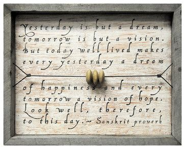 Yesterday Is But A Dream Reclaimed Wood Wall Art - transitional - Novelty Signs - Kathy Kuo Home