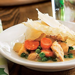 Lighter Chicken Pot Pie | Delishiousness | Pinterest