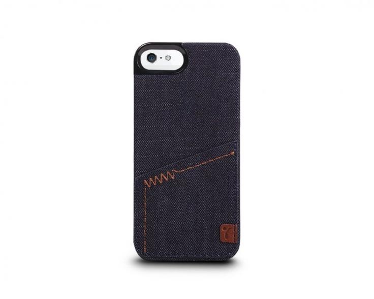 The Joy Factory Denim™ -Denim Hardshell Case with Pocket for iPhone5 (Indigo) Cases
