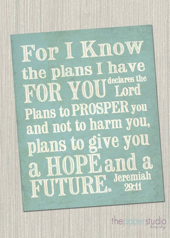For I know the plans I have for you... by ThePaperStudioDesign, $6.00