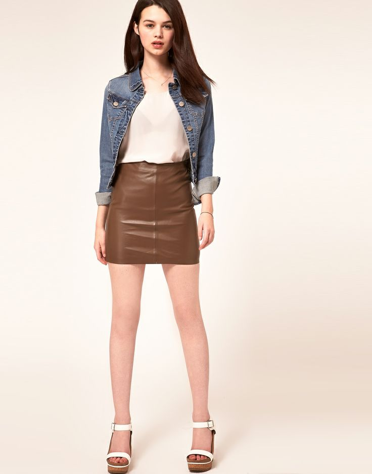 17 Best images about Women Leather Skirts on Pinterest | Long ...