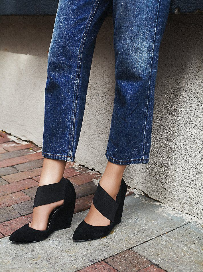 charles david Madrid Wedge at Free People Clothing Boutique