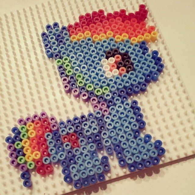MLP Baby Rainbow Dash hama perler beads by frk_my