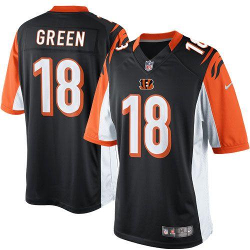 nfl jersey sales by team Men's Cincinnati Bengals AJ Green Nike Black  Limited Jersey