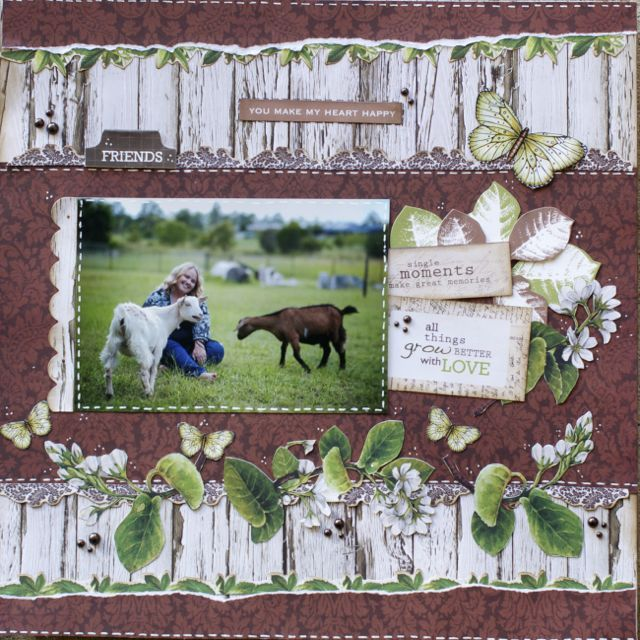 A layout by Kelly-ann Oosterbeek, made using the Botanical Collection from Kaisercraft. www.amothersart.com