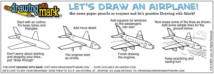 We love to travel! Learn how to draw an airplane with this guide!