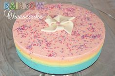 My Rainbow cheesecake ! Cheesecake arc en ciel trop facile à faire !